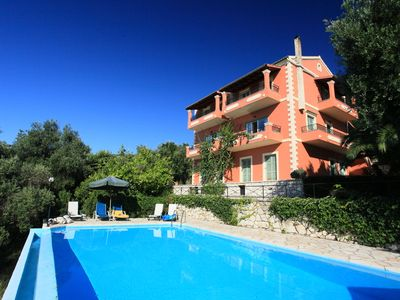 Photo for Villa Vasso: Large Private Pool, Walk to Beach, Sea Views, A/C, WiFi, Car Not Required