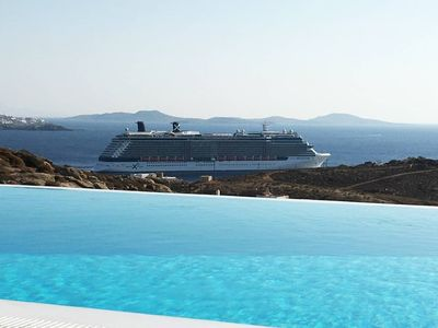Photo for Lux Sunset Villa KALIMERA 3BR infinity pool&view