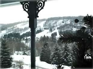 View of Holimont slopes from our balcony