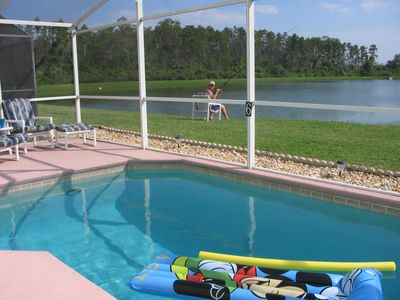 Photo for Disney Executive Villa, private south-facing pool, overlooking lake