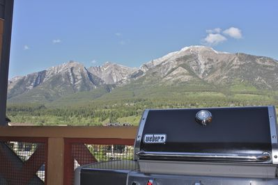 Great view from deck while barbecuing or relaxing after an adventurous day.