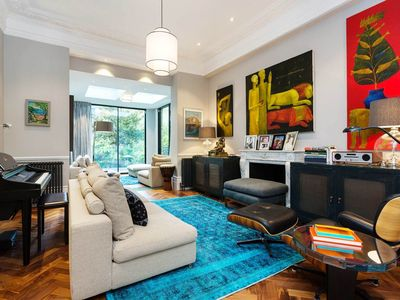 Photo for Refined home with an exquisite garden & balcony in South Kensington (Veeve)