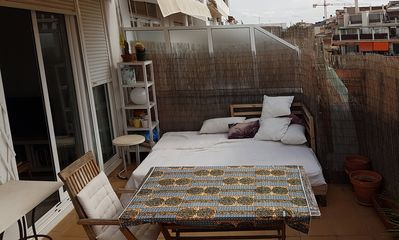 Photo for Bright and cozy attic with terrace in the center of Barcelona