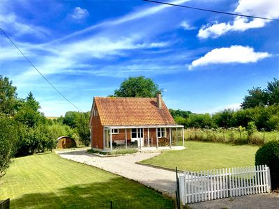 Photo for The small house in the meadow between Hesdin and Montreuil / sea, 40min 'from the sea
