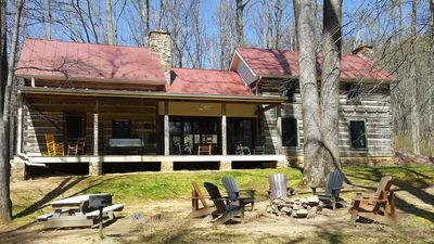 Photo for Restored Double Log Cabin on 400 Mountain Acres
