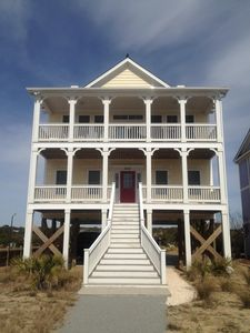 Photo for BEAUTIFUL  HOME LOCATED ON CORNER LOT!!! STEPS TO BEACH!!!