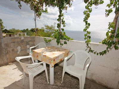 Photo for One bedroom apartment with terrace and sea view Bojanić Bad (Hvar)