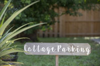 Dedicated cottage parking on driveway