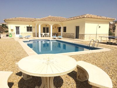 Photo for Spacious fully air conditioned 3 bedroom villa with own pool and beautiful views