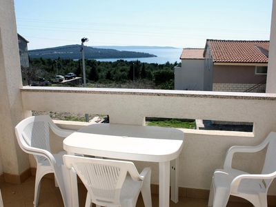 Photo for One bedroom apartment with balcony and sea view Seget Vranjica, Trogir (A-4870-b)