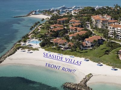 Aerial of the Villa - just steps from the Beach!