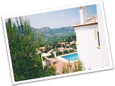 Photo for Detached villa with large private pool, terraces, beautiful views and WiFi