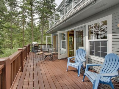 Photo for Ski-in/ski-out from this dog-friendly home w/ a deck, firepit, & sound views