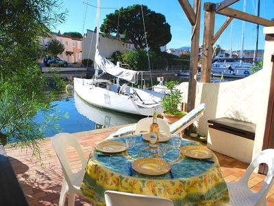 Photo for Balandrine house with WIFI and a 10m mooring in a private area