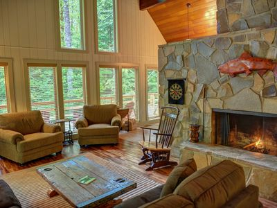 Photo for ZigZag Mtn Retreat-HotTub-Stone Fireplace-Secluded-Near Mt Hood Nat'l Forest