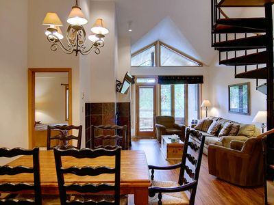 Photo for Summer Deals! Pool, Hot Tub, Elevator, Tennis, Fire Pit, Grills, Walk to Mtn, Balcony-Recent Remodel