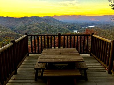 Photo for Mountain AND Lake Views-Hot Tub-Rustic Chic Interior-Peaceful Privacy-WiFi