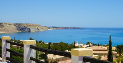 Photo for Stunning luxury villa, heated pool, a/c, panoramic sea views, WiFi, BBQ, gardens