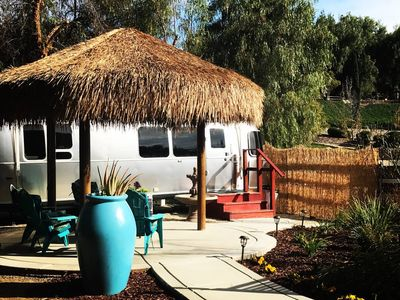 Photo for Temecula Wine Country Airstream Dream - Private Tropical Patio & Palapa