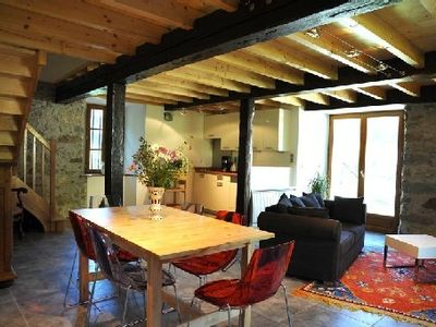 Photo for Accommodation in authentic barn in the heart of the valley dAzun, mountain views