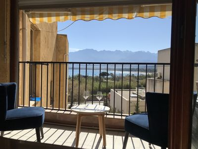 Photo for Apartment T3 with balcony sea and mountain view