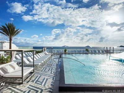 Photo for Luxe Oceanfront Condo at The W Residences; 2BR/2BA; Infinity Pool; Full Kitchen
