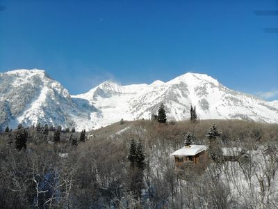 Photo for Secluded 3 Bedroom Cabin, Hot Tub, View of Ski Slopes, Wood Burning Fireplaces