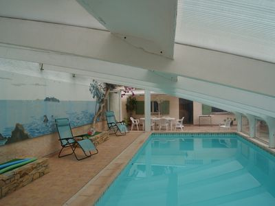 Photo for House comfortable, indoor pool, 300 m from the sea