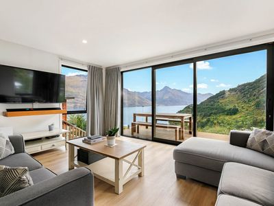 Photo for Lake and mountain views | Beautiful contemporary home | Warm and bright