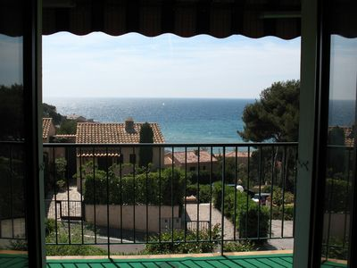 Photo for Sanary Apartment 4 people 100 m from the beach Magnificent sea view