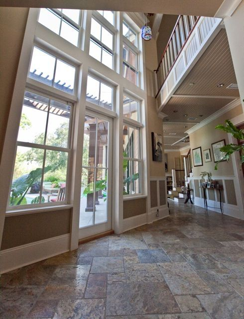 Foyer area and french doors to back deck pool and BBQ area. & Luxury Estate. Secluded Folly Beach... - HomeAway Folly Beach