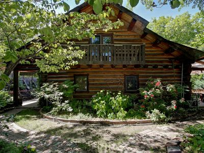 Photo for Unforgettable Log Home - Walk to the Bavarian Village - Sleeps 8-10 - Hot Tub