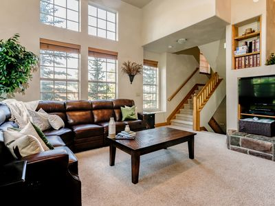 Photo for See The Stars From The Hot Tub | Kitchen Fireplace | Sleeps 11 | Walk Downtown