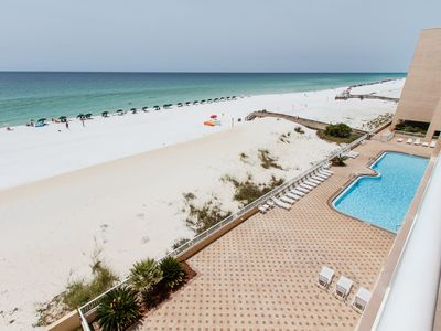 Balcony views - View of the pool at the Islander Beach resort from your private balcony