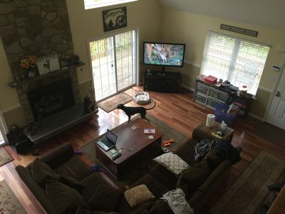 Main Living Room - View from Loft - TV with Cable