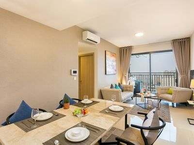 Photo for LUXURY 3BR SUITE DOWNTOWN 28th FL with FREE GYM & POOL near BEN THANH MARKET