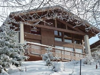 Photo for La Plagne Montalbert (1,500m) 4 épis (star) chalet on ski domain of La Plagne
