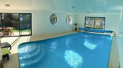 Photo for Villa 4 * private indoor pool / SPA - Beach at 200m