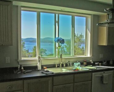 This kitchen sink comes with a view.