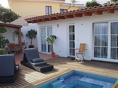 Photo for For rent beautiful house facing the sea with garden and private pool,