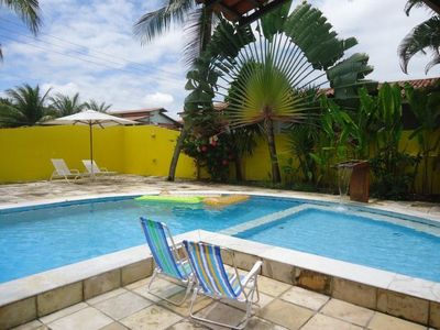 Photo for Beautiful beach house in Barra with huge pool, barbecue, large garden.