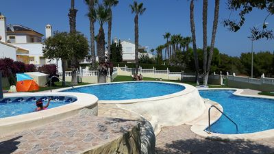 Photo for Costa Blanca beach & golf, Beautiful vacation apartments, 70 square meters, 2 bedrooms, 2 bathrooms, WIFI, Pool