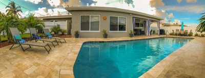 Photo for Perfect Beach House! Large 3/2 w/ Heated Pool, Covered Lanai & 2M from Beach