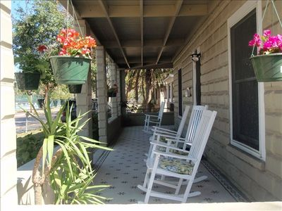 Front wrap around porch.  Great place to enjoy a cup of coffee or glass of wine.