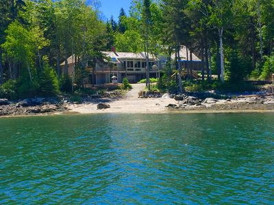 Photo for Rare Private Beach - Oceanfront near Port Clyde w/boat mooring & relaxing views