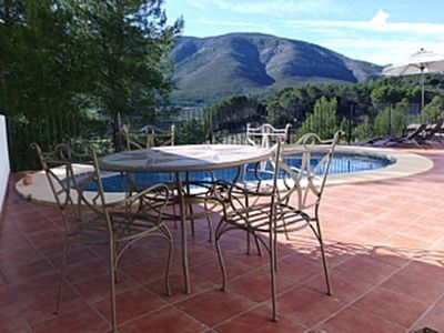 Photo for Private Villa With Pool Overlooking The Beautiful Jalon Valley