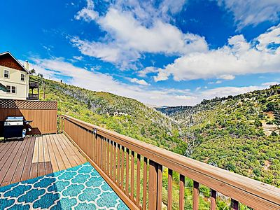 Photo for New Listing! Charming Mountain Eden w/ 2 Balconies, 3 Fireplaces & AC