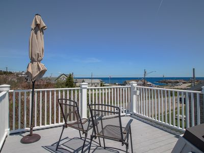 Photo for Charming oceanfront getaway w/ roof deck & Nubble Light views - walk to beaches!