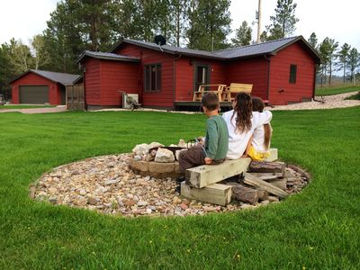 Sit by the fire and enjoy the outdoors. This is a favorite of most guests.