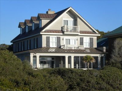 View of the house from the beach.  Very Charleston. Different from all others.